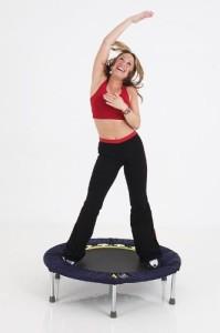 Training mit Trampolin für Beckenboden